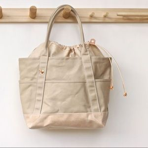 LAYERXLAYER Cinch Canvas Leather Tote Bag USA Made